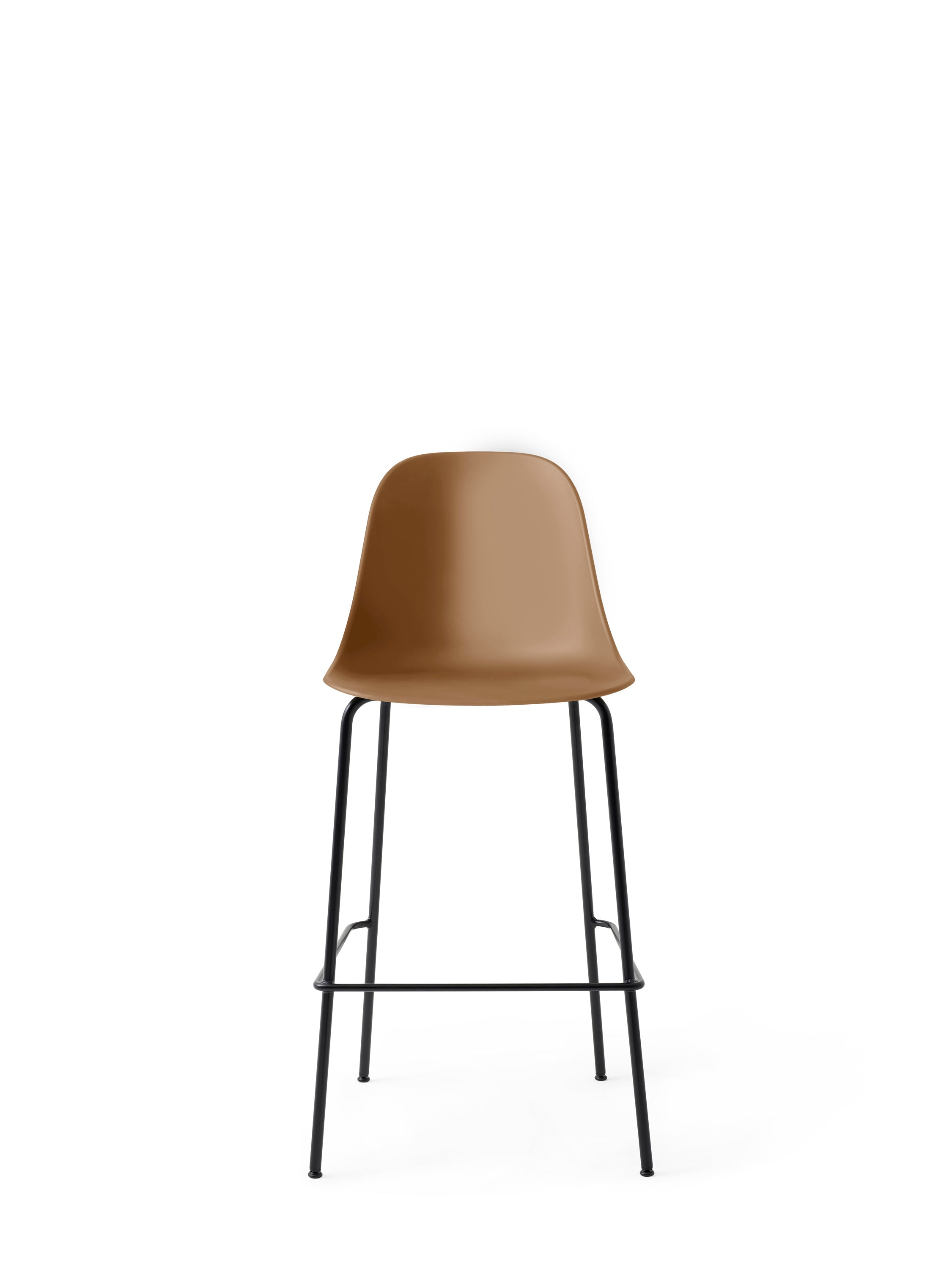 Harbour Side Chair - Bar, Black Steel Base/Khaki Shell fra Menu