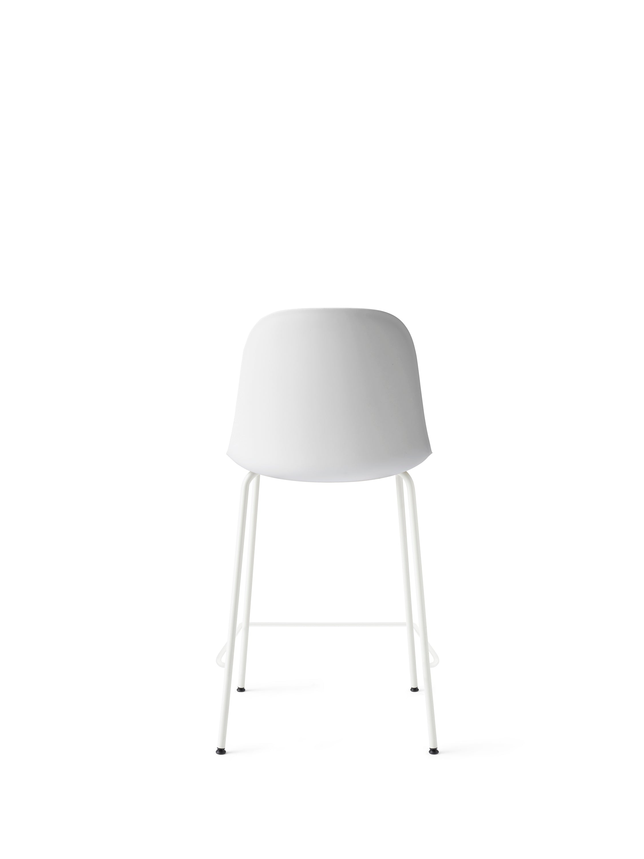 Harbour Side Chair - Counter, Light Grey Steel Base/White Shell fra Menu