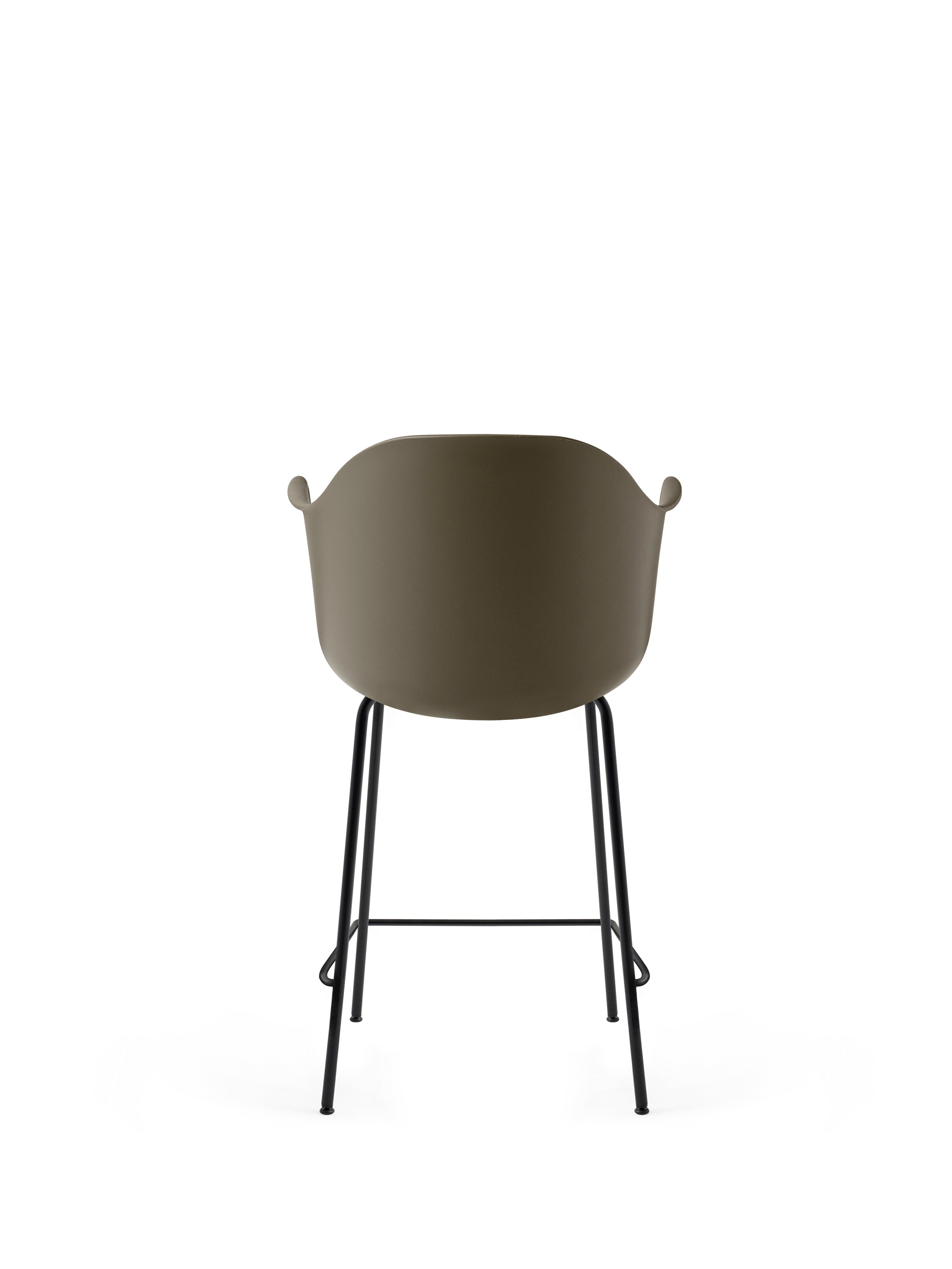 Harbour Chair - Counter, Black Steel Base/Olive Shell fra Menu