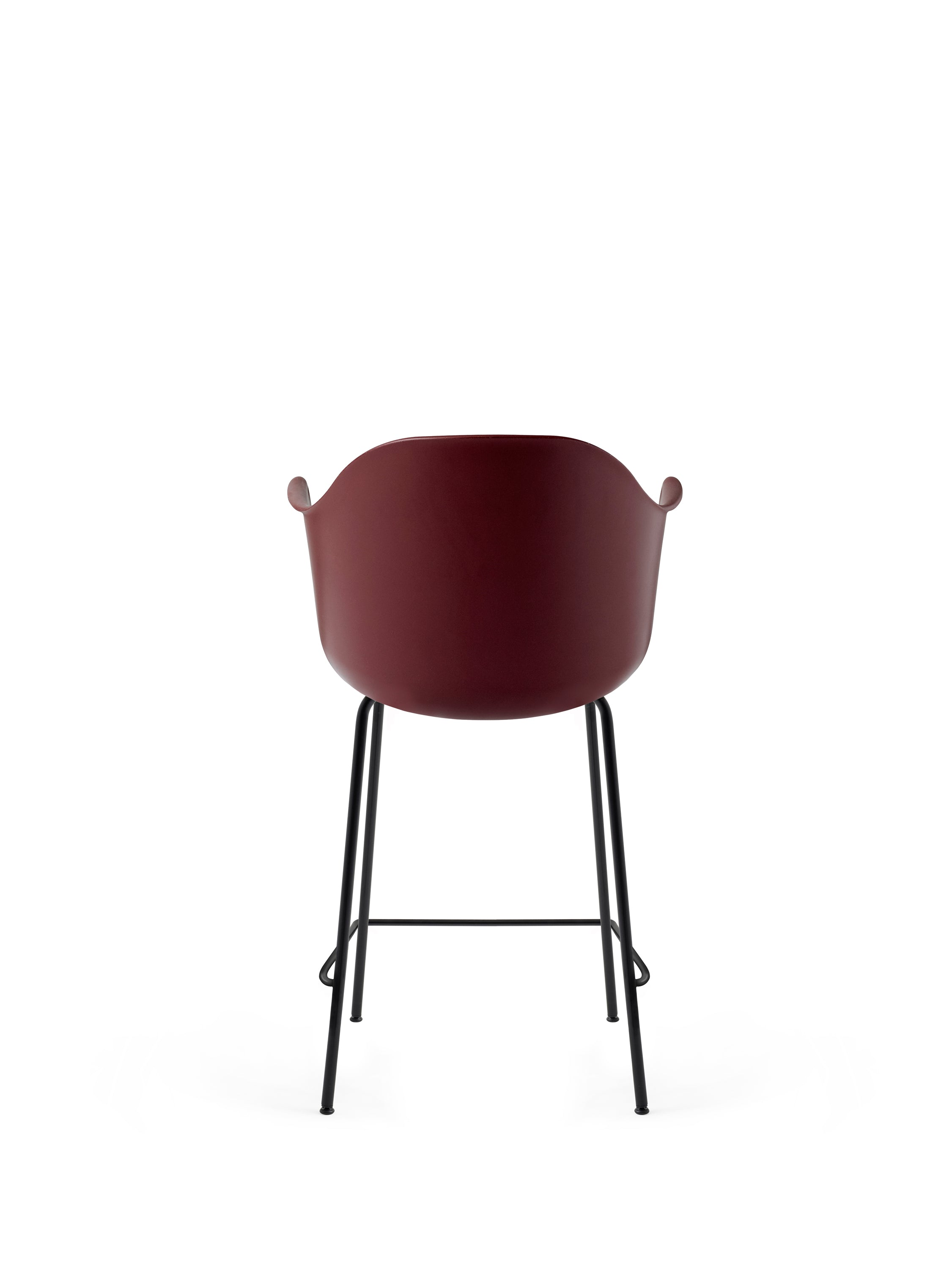 Harbour Chair - Counter, Black Steel Base/Burned Red fra Menu