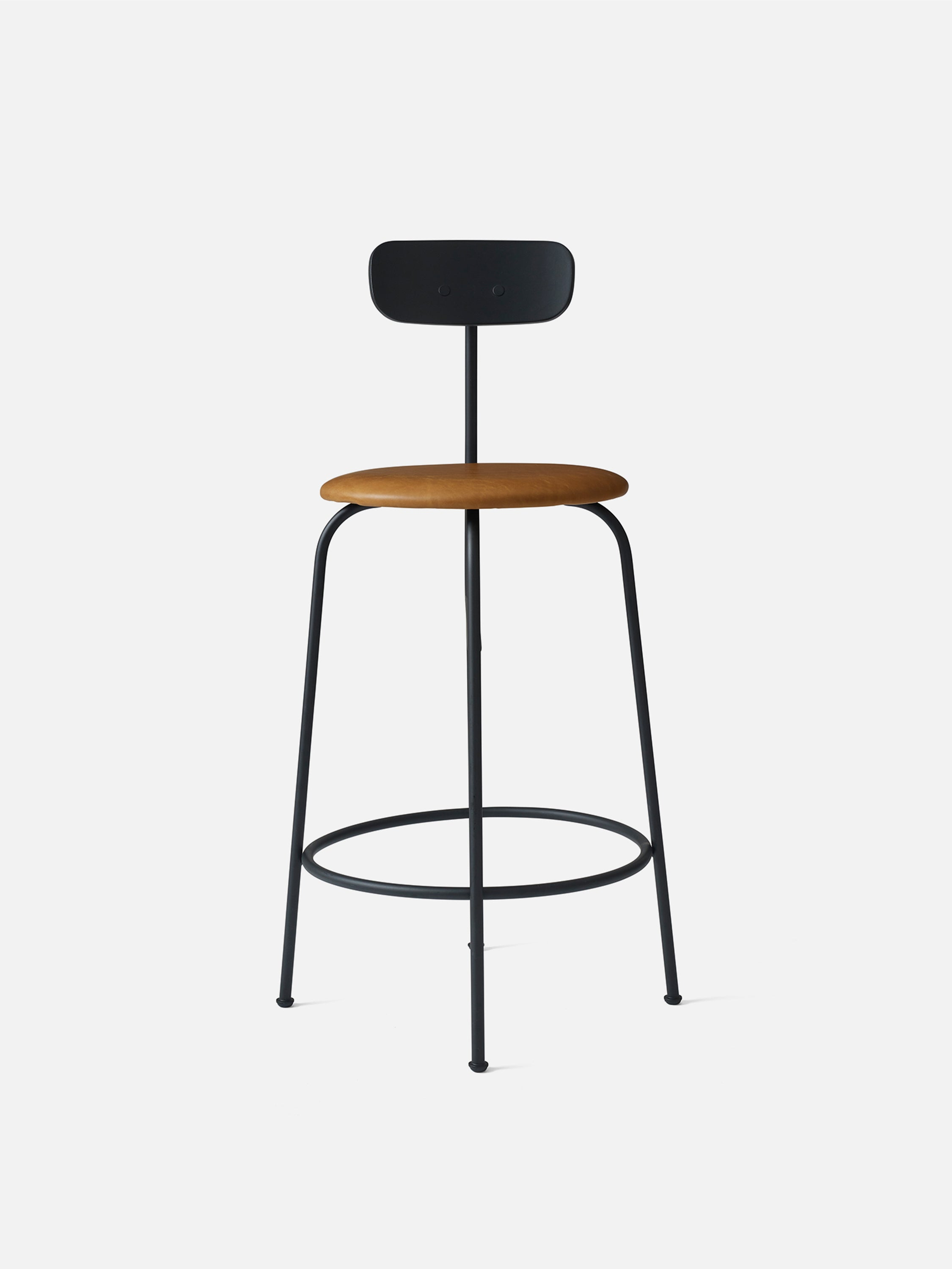 Afteroom Counter Chair, Black/Cognac fra Menu