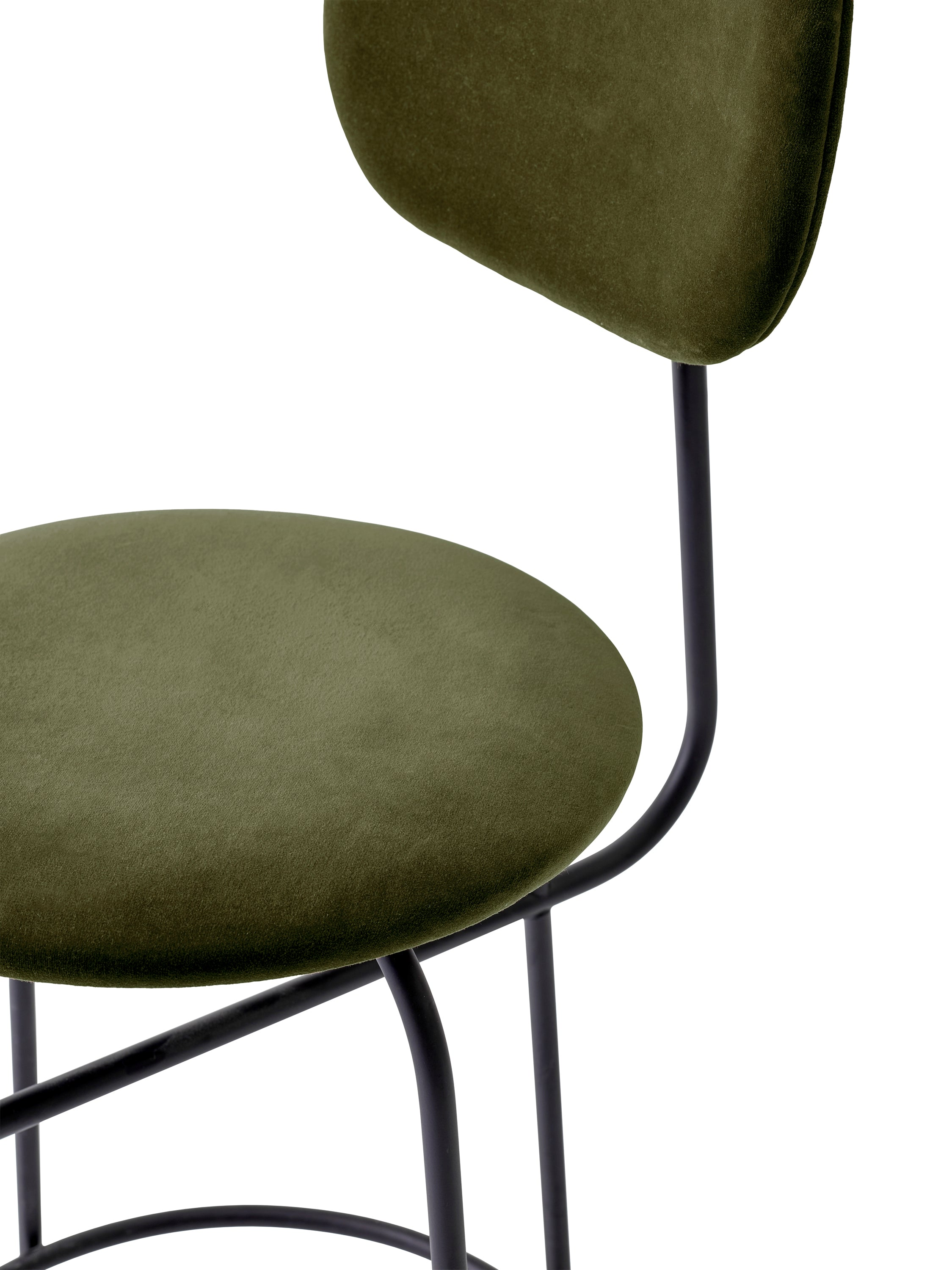 Afteroom Counter Chair Plus, Black/City Velvet CA7832/031 fra Menu
