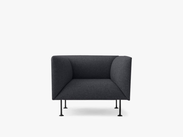 Godot, 1 Seater, Dark Grey Melange - Sofa/stol fra Menu