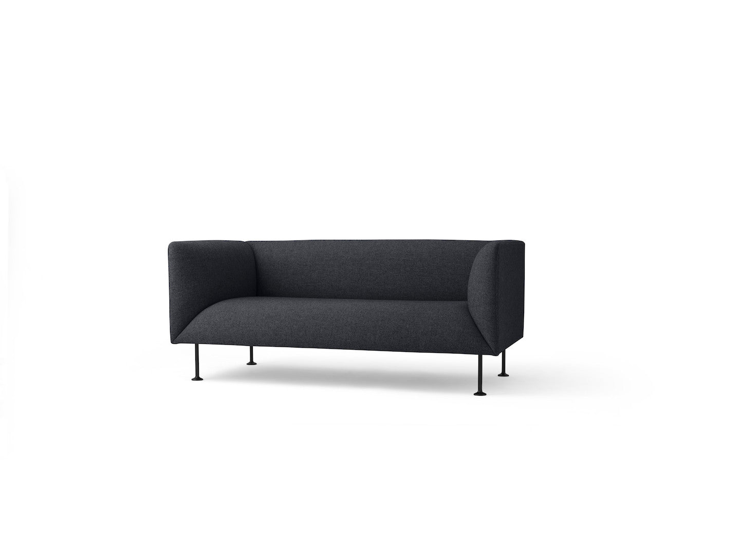 Godot, 2 Seater, Dark Grey Melange - Sofa fra Menu