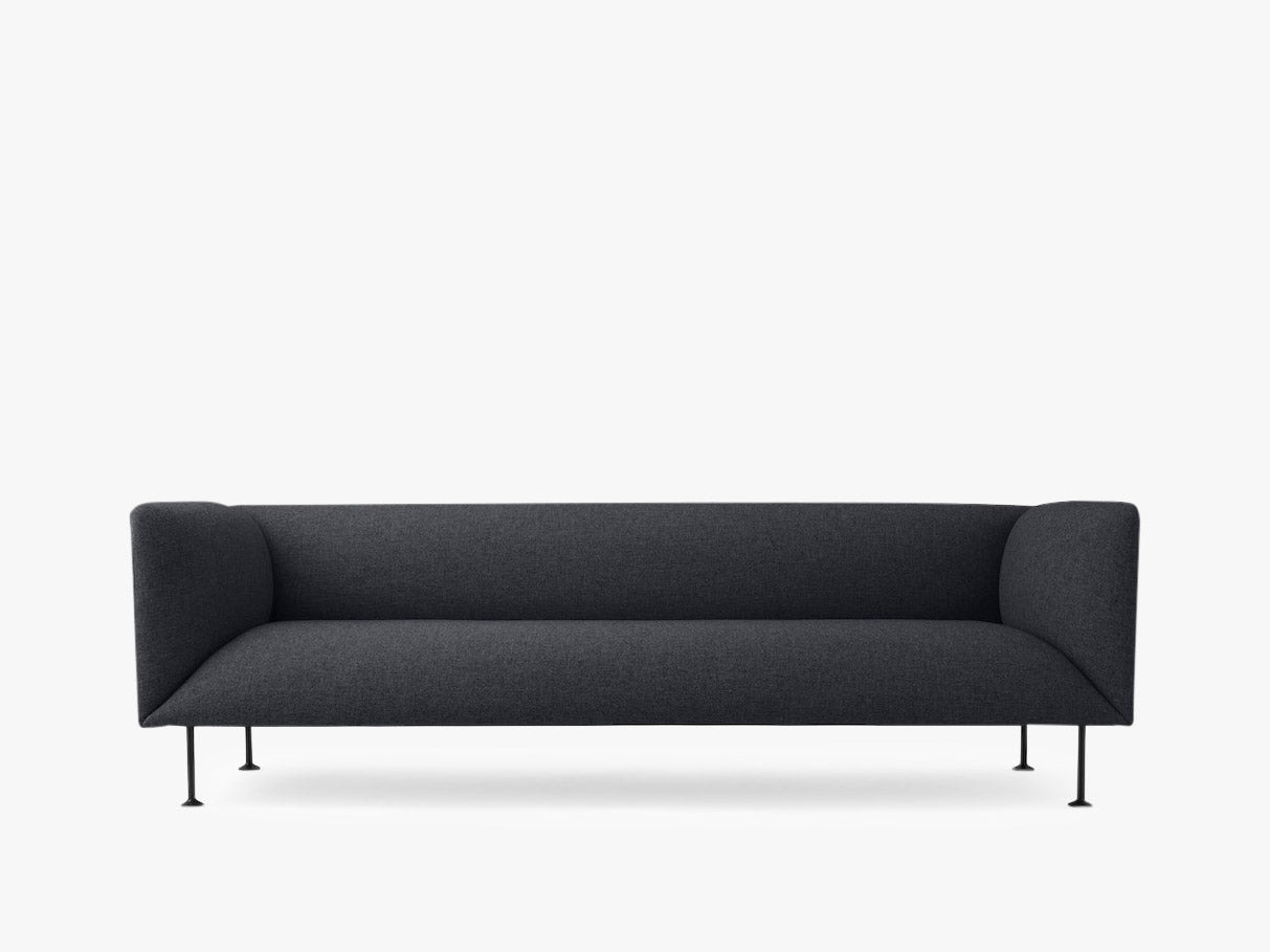 Godot, 3 Seater, Dark Grey Melange - Sofa fra Menu