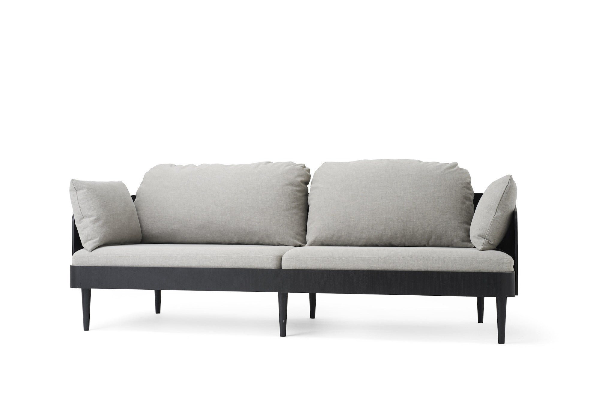 Septembre Sofa, Black Ash/Light Grey fra Menu