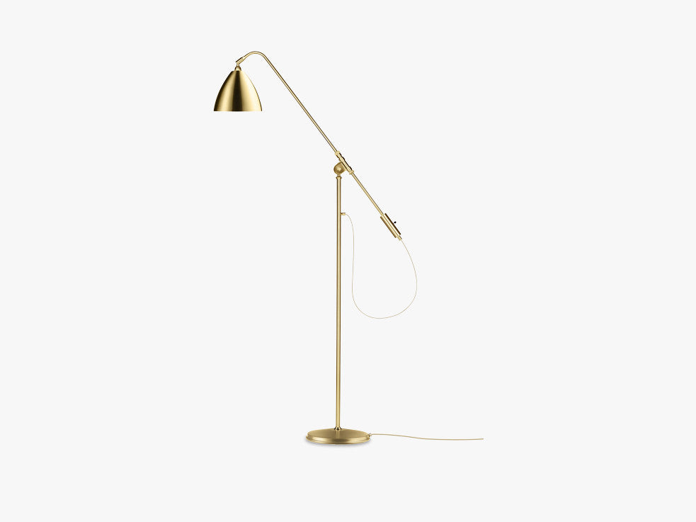 Bestlite BL4 Floor Lamp - Ø21 - Brass Base, Brass fra GUBI