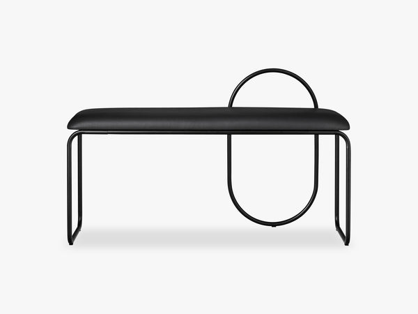 ANGUI bench, Black leather fra AYTM