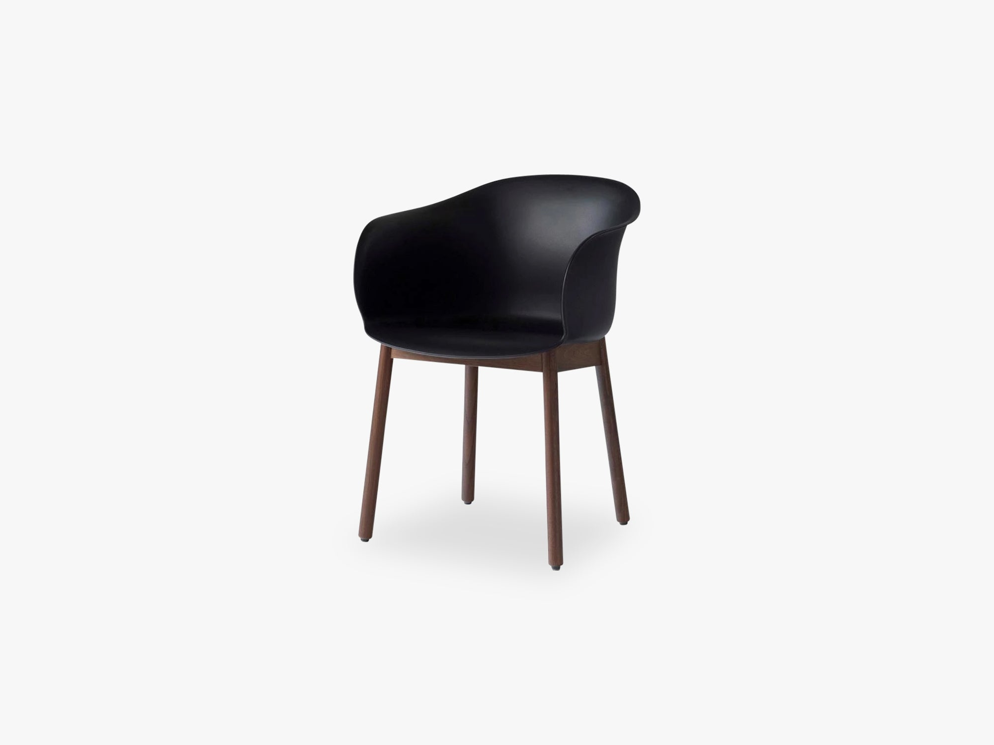 Elefy Chair JH30 Black, Walnut base fra &tradition