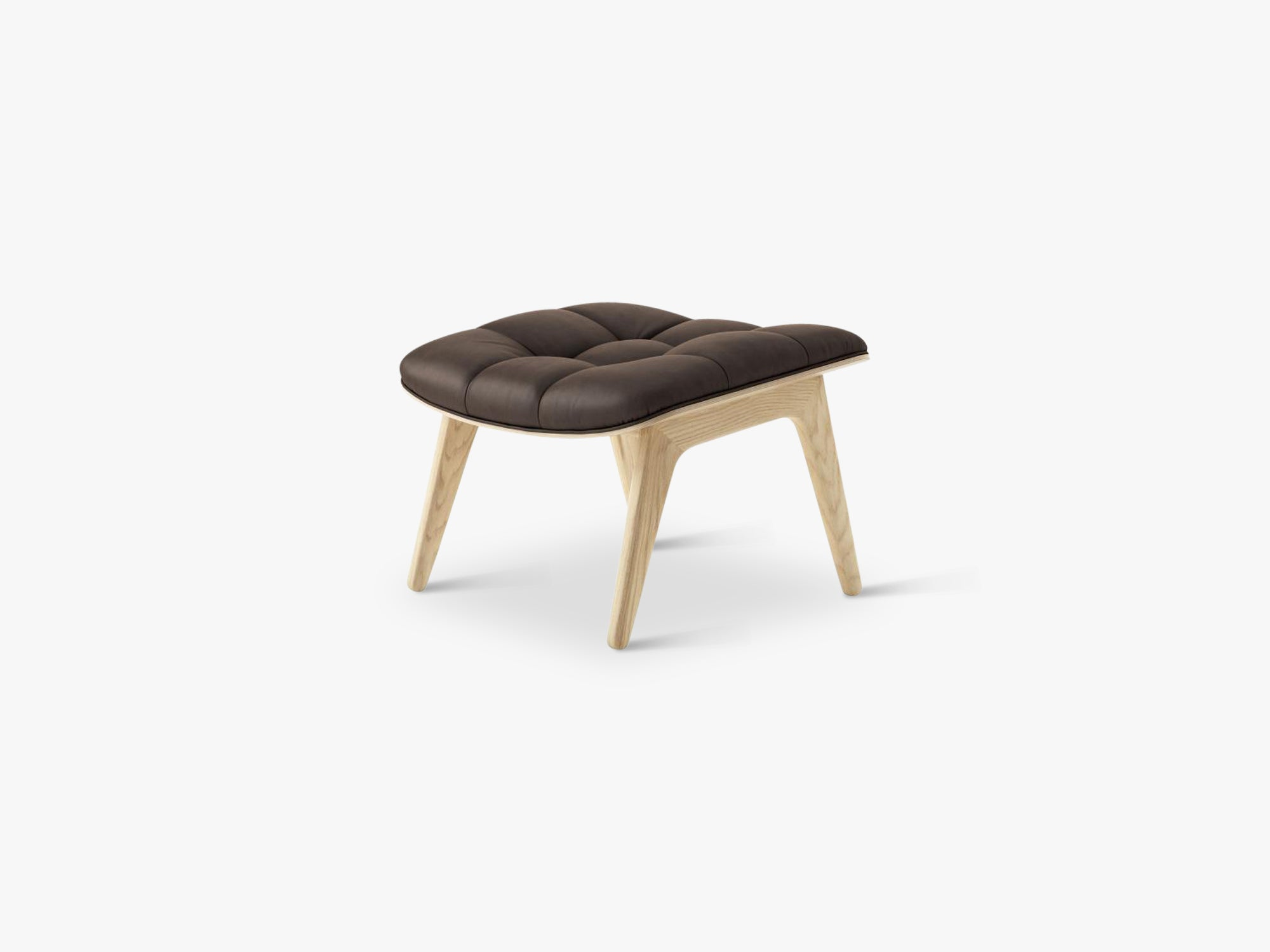 Mammoth Ottoman, Natural/Dark Brown fra NORR11