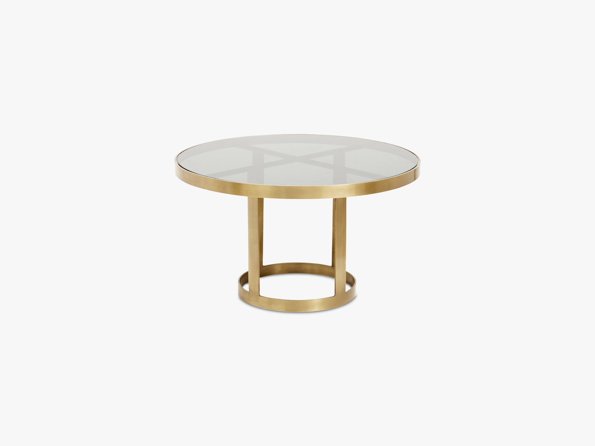 Round coffee table, golden/black glass fra Nordal