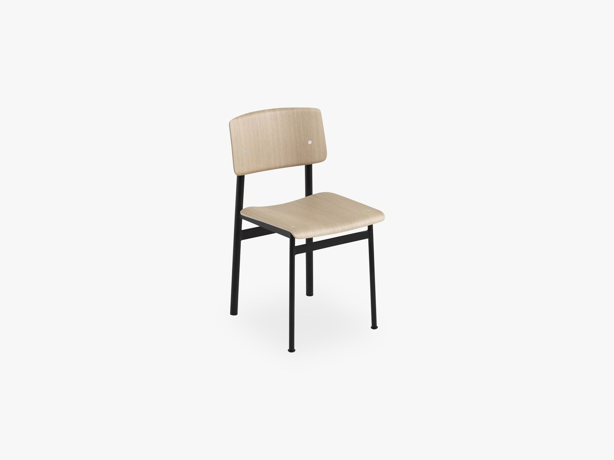 Loft Chair, Black/Oak fra Muuto