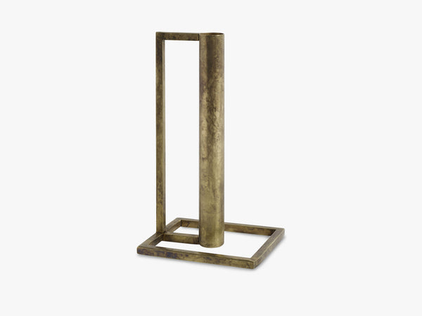 Candle holder, cubic, antique brass fra Nordal