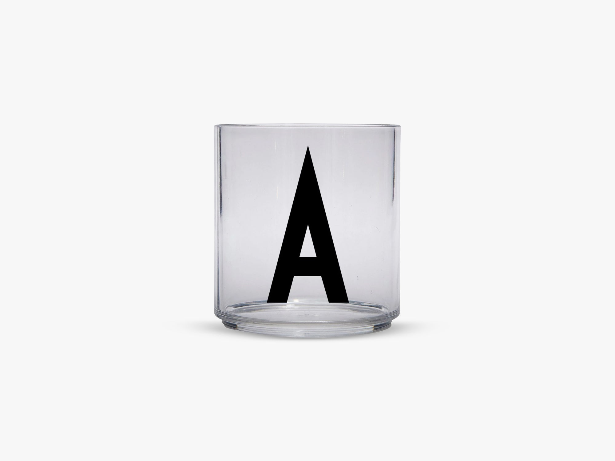 Kids personal drinking glas A-Z, A fra Design Letters