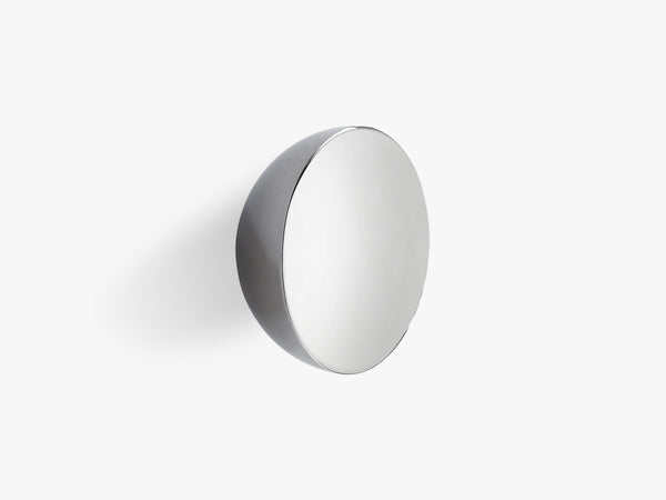 Aura Wall Mirror, Stainless Steel, Small fra New Works