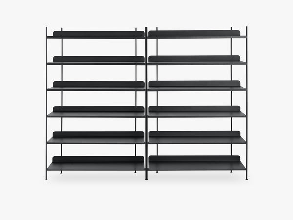 Compile Shelving System / Configuration 8, Black fra Muuto
