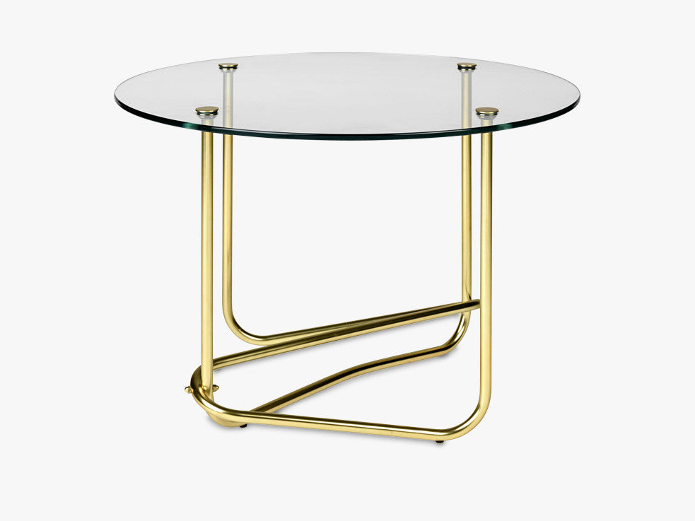 Matégot Coffee Table, Glass Clear top fra GUBI