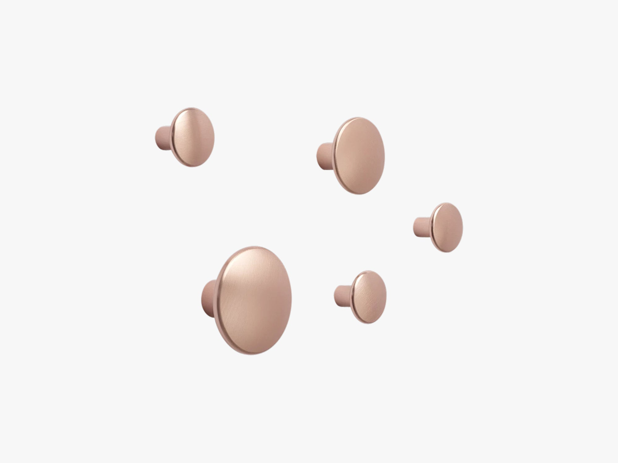 Dots Metal - Set Of 5, Rose fra Muuto