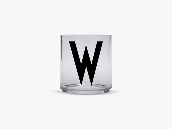 Kids personal drinking glas A-Z, W fra Design Letters