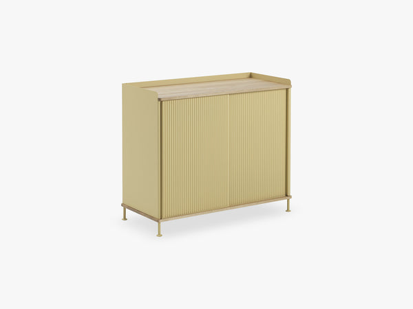Enfold Sideboard / Tall, Oak/Yellow fra Muuto