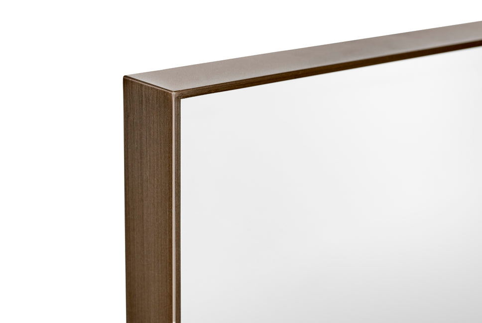 Amore mirror, 90x30cm bronzed brass fra &tradition