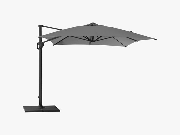 Hyde Luxe Hanging Parasol Inkl Fod - 3X4 M, Anthracite fra Cane-Line