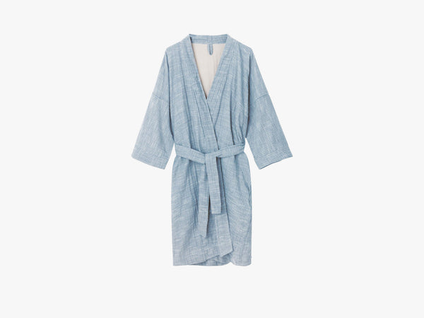 Bathrobe Striped, Indigo fra Aiayu