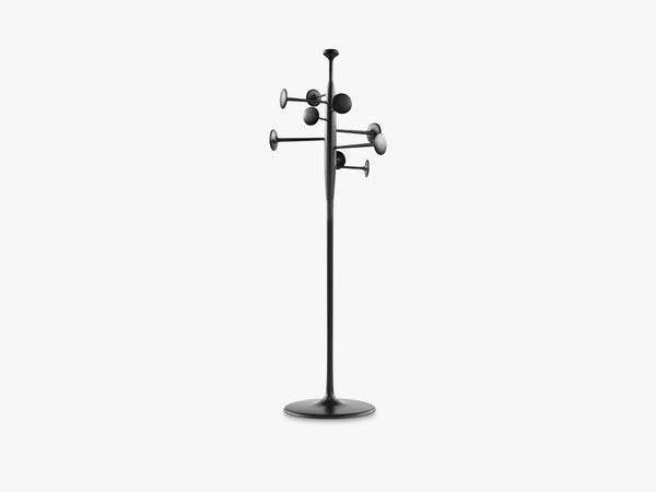 Trumpet Coat Stand, Black Powdercoated Partly Recycled Aluminium fra Mater