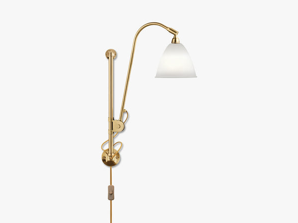 Bestlite BL5 Wall Lamp - Ø16 - Brass Base, Bone China fra GUBI