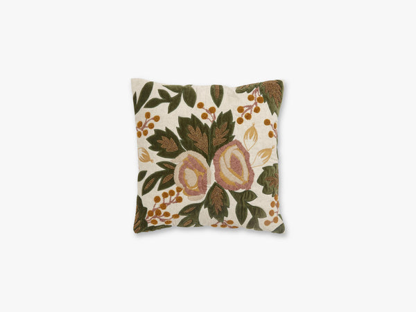 Cushion cover, flowers/beads, rose/curry fra Nordal