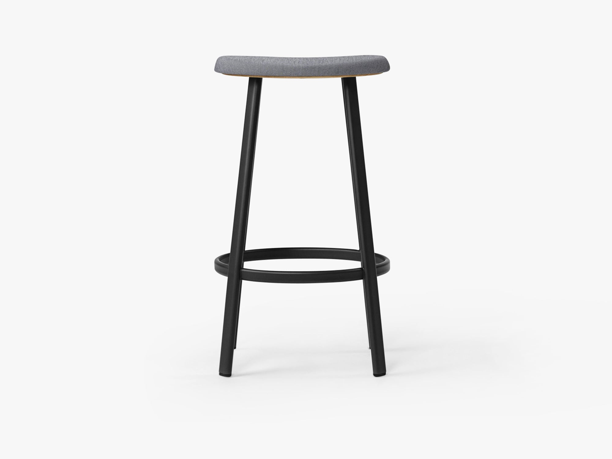 Anno Stool H75, Black/Mosquito Grey Textile fra MILLION