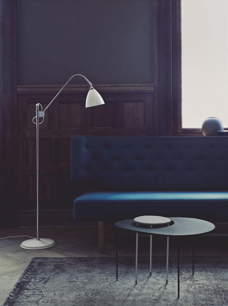 Bestlite BL3 Floor Lamp - Ø21 - Crome Base, All Crome fra GUBI
