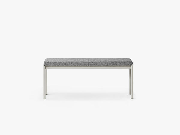 Mies Bench L110 Light Grey/ Skye Fabric fra MILLION