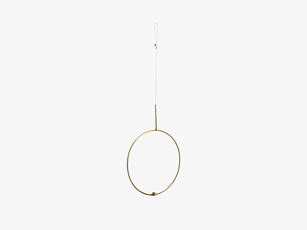 Circle candle holder f/hanging, large fra Nordal