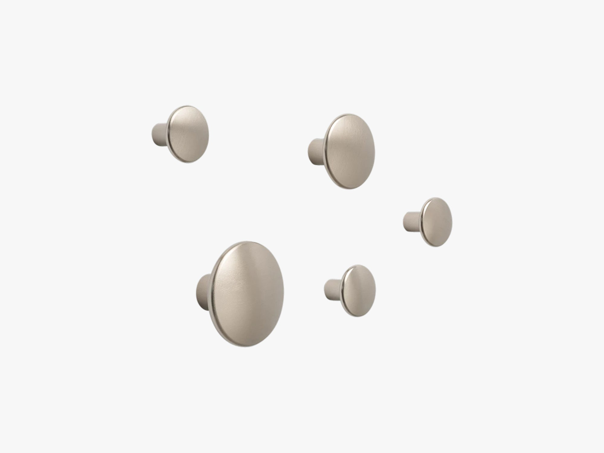 Dots Metal - Set Of 5, Taupe fra Muuto