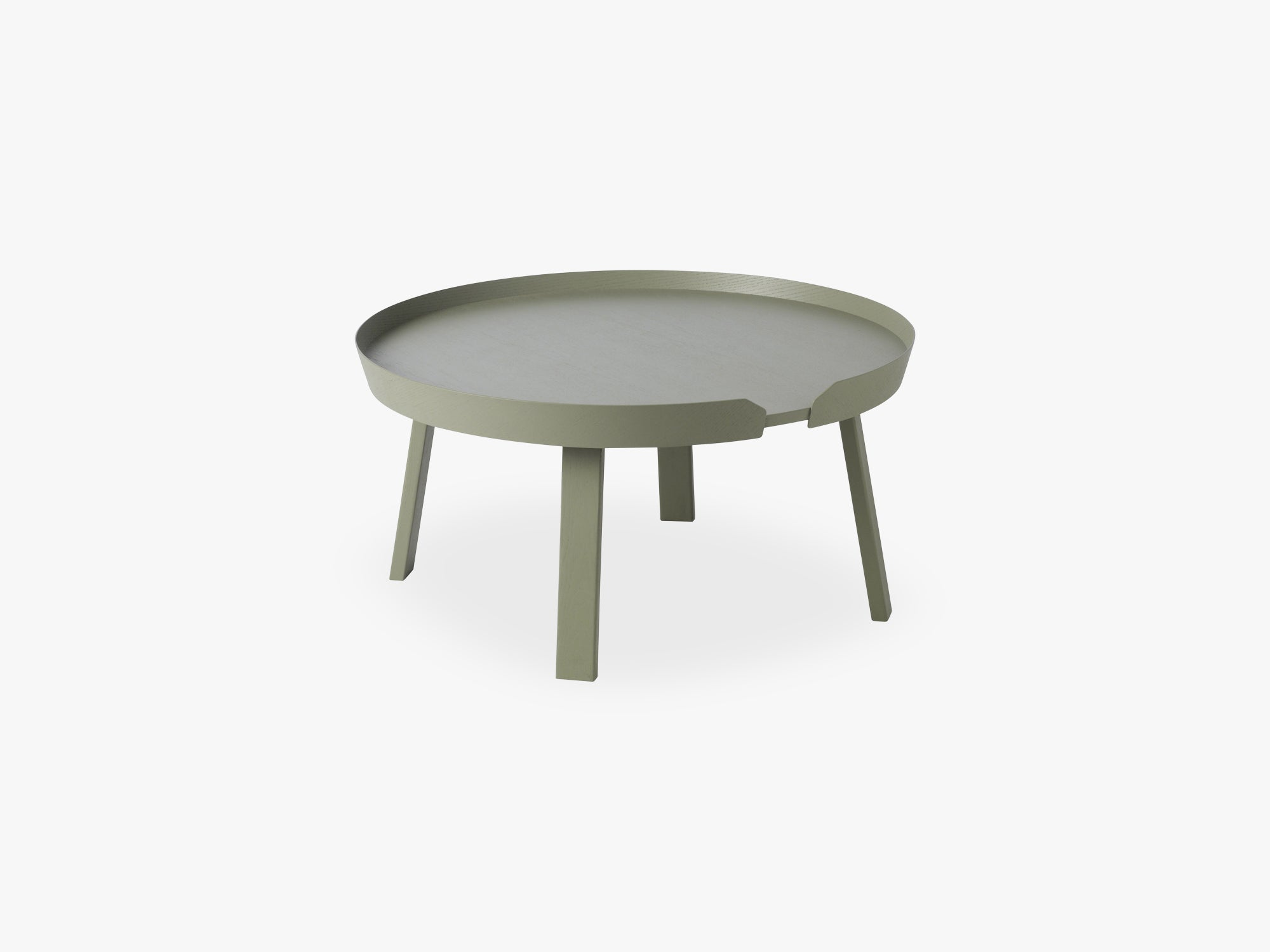 Around Coffee Table - Large, Dusty Green fra Muuto