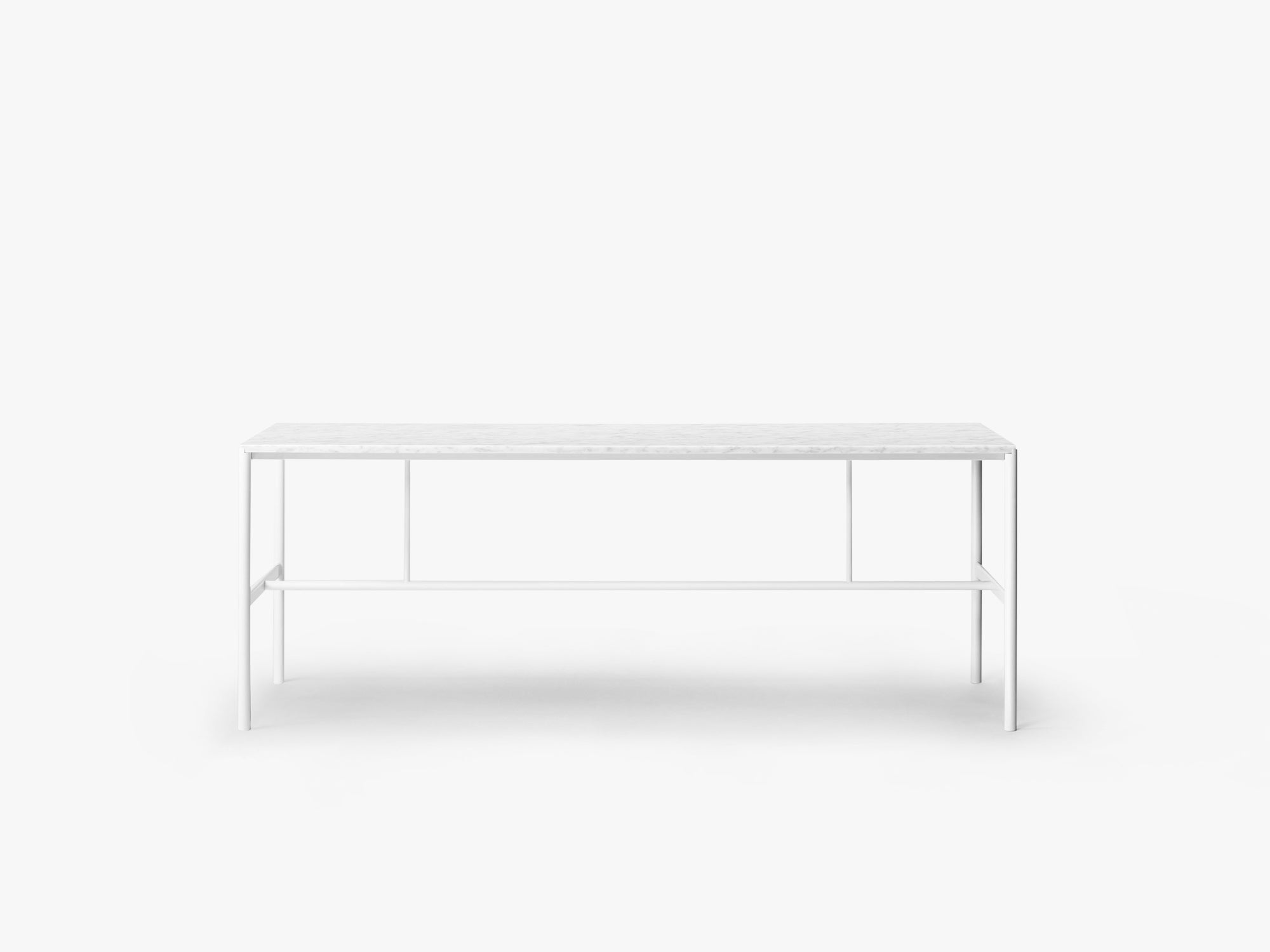 Mies Dining Table M1, White/Marble Bianca Carrera fra MILLION