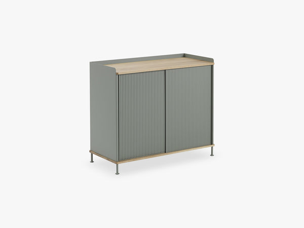 Enfold Sideboard / Tall, Oak/Dusty Green fra Muuto