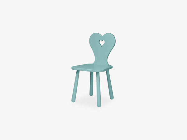Heart Kids Chair, Canal Green fra Cam Cam Copenhagen