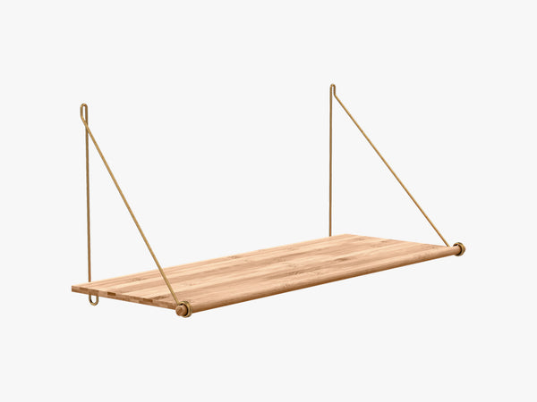 Loop Shelf, Brass Mounting Bracket fra We Do Wood