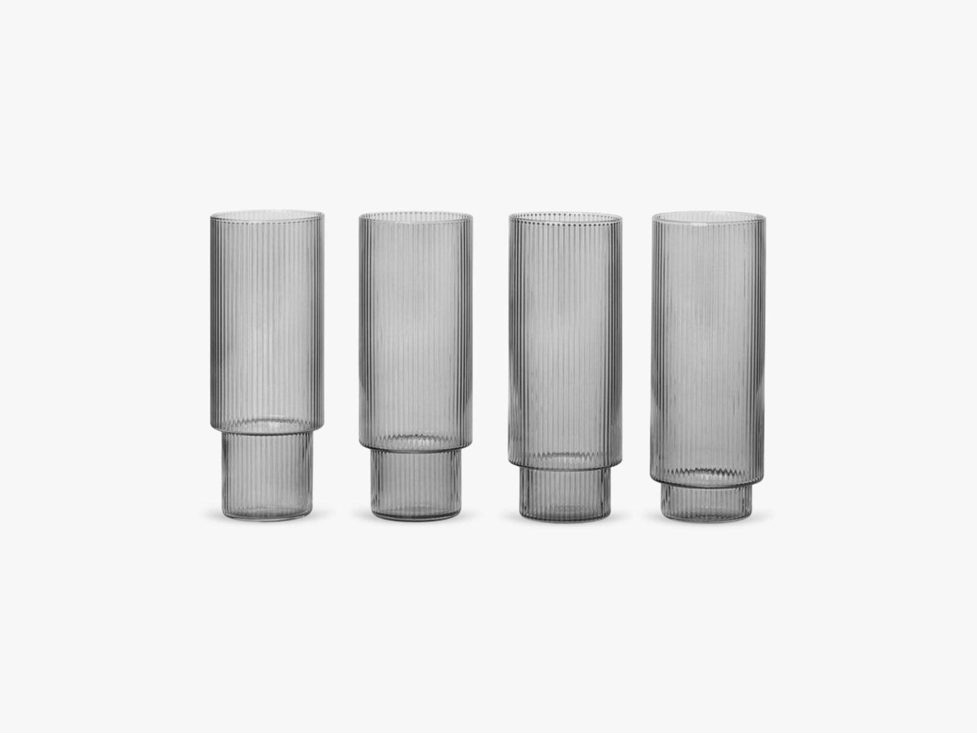 Ripple Long Drink Glass, Smoke fra Ferm Living