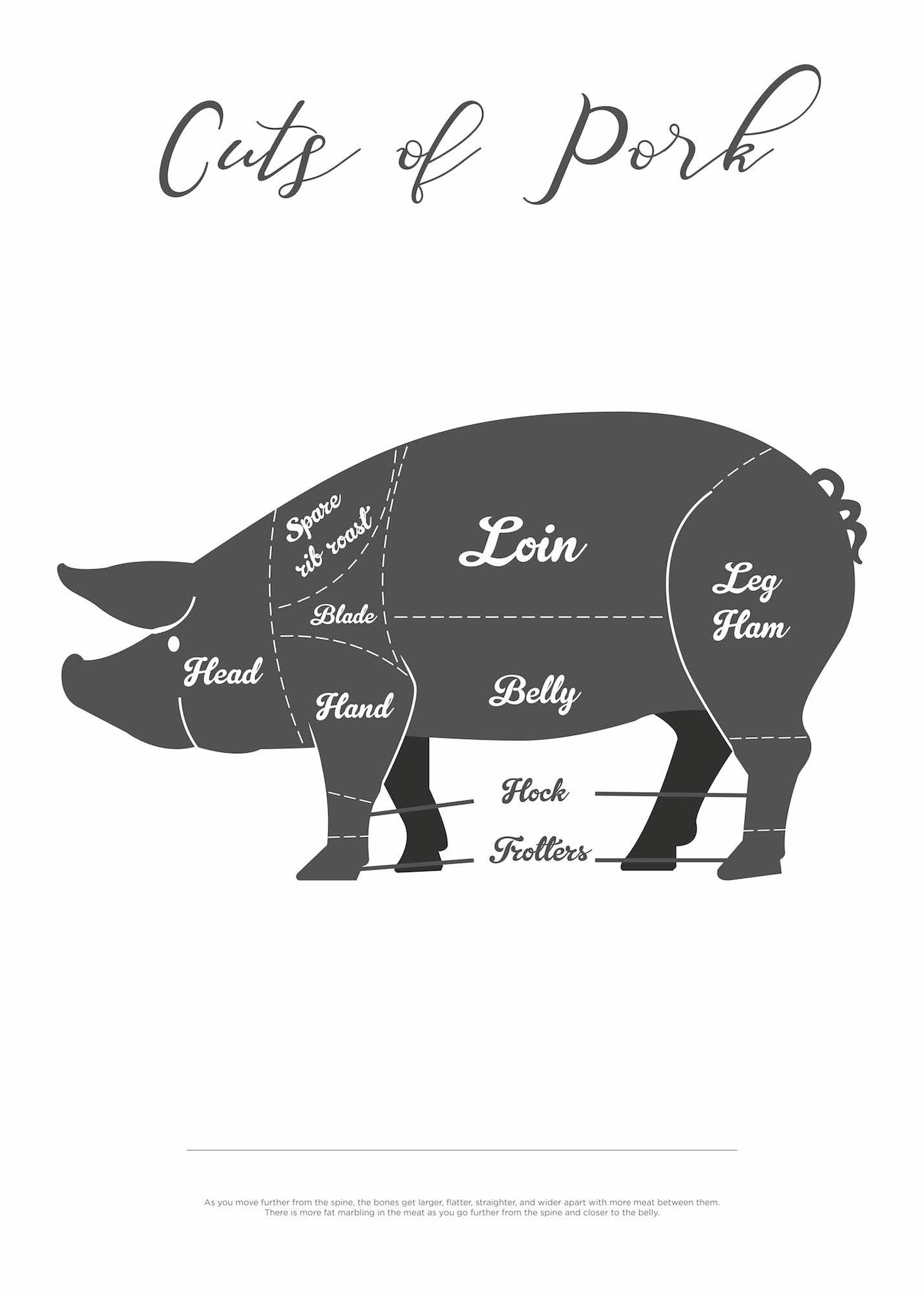 Cuts Of Pork - Hvid fra Paper Stories