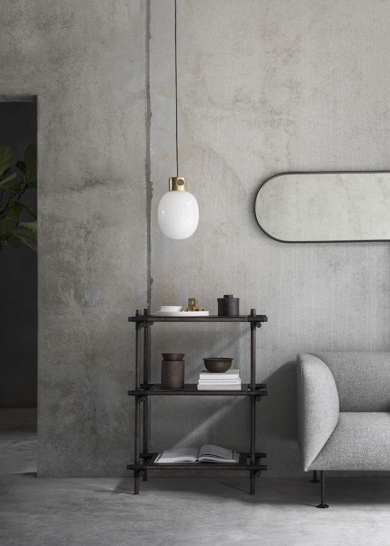 Norm Wall Mirror, Oval - Sort fra Menu