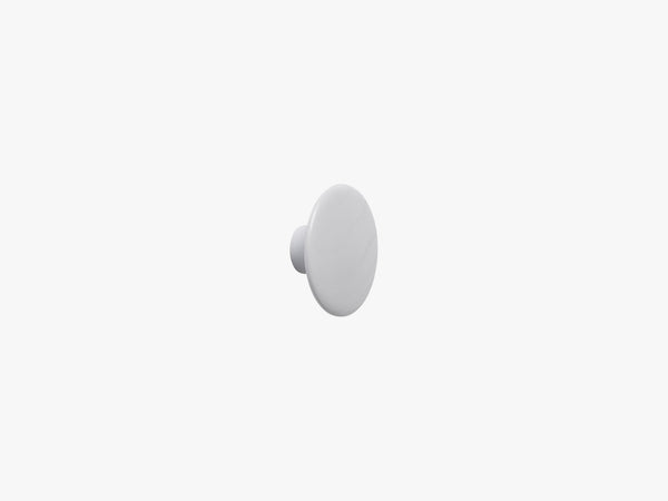 The Dots Coat Hooks / X-Small, Grey fra Muuto