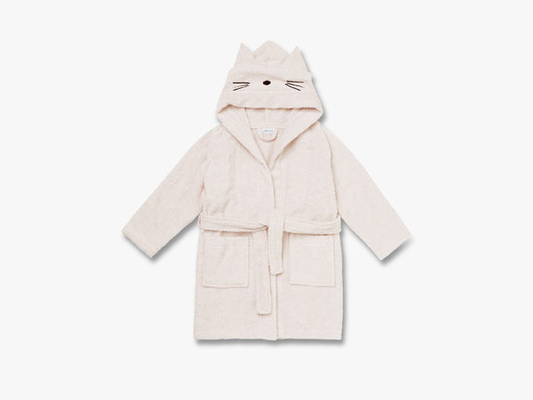 Lily Bathrobe Cat Solid, Sweet Rose fra Liewood