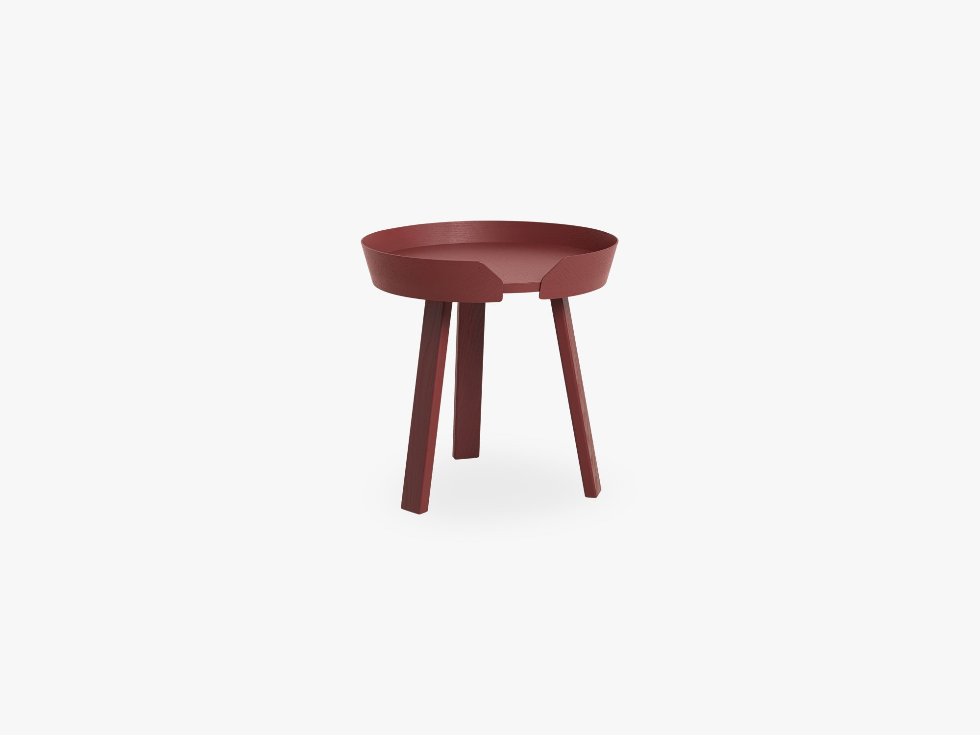 Around Coffee Table - Small, Dark Red fra Muuto
