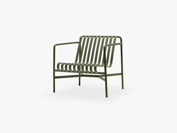 Palissade Lounge Chair - Low, Olive fra HAY