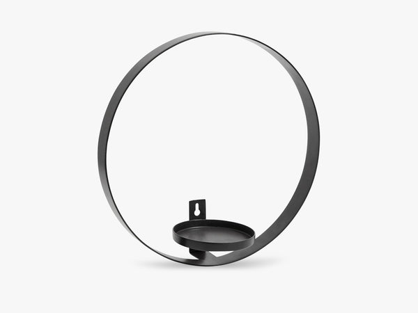 CIRCLE wall candle holder, black fra Nordal