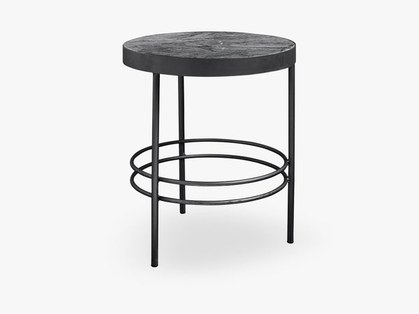 MIDNIGHT round side table, 3 legs fra Nordal