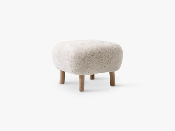 Lille Petra Pouf ATD1, Oak - Moonlight Sheepskin fra &Tradition